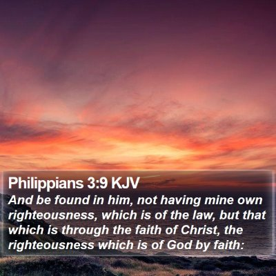 Philippians 3:9 KJV Bible Verse Image