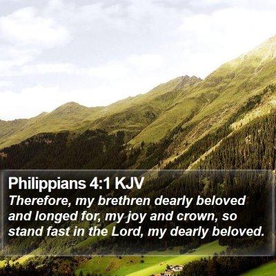 Philippians 4:1 KJV Bible Verse Image