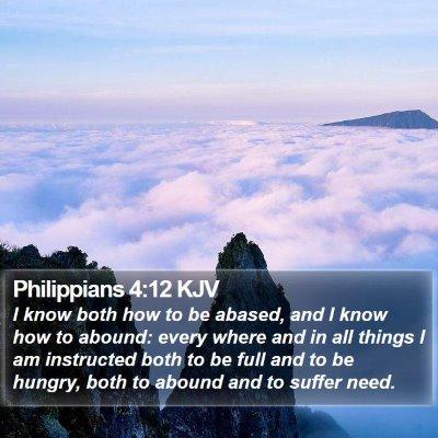 Philippians 4:12 KJV Bible Verse Image