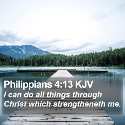 Philippians 4:13 KJV Bible Verse Image