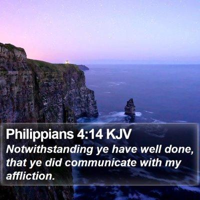 Philippians 4:14 KJV Bible Verse Image
