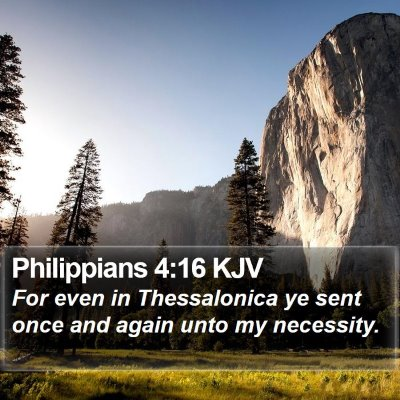 Philippians 4:16 KJV Bible Verse Image