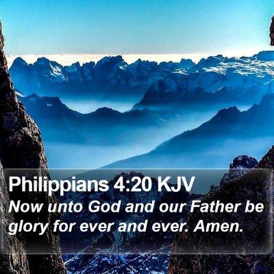 Philippians 4:20 KJV Bible Verse Image