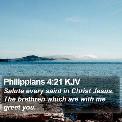 Philippians 4:21 KJV Bible Verse Image