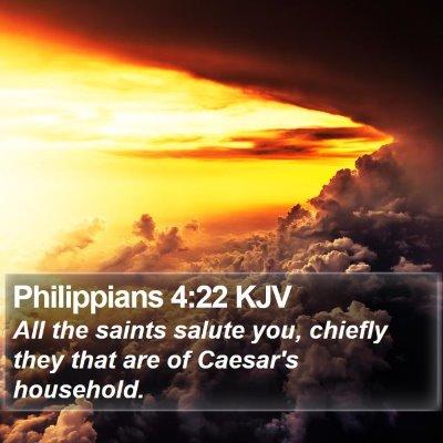 Philippians 4:22 KJV Bible Verse Image