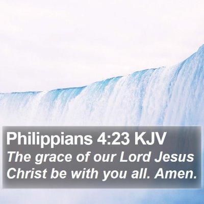 Philippians 4:23 KJV Bible Verse Image