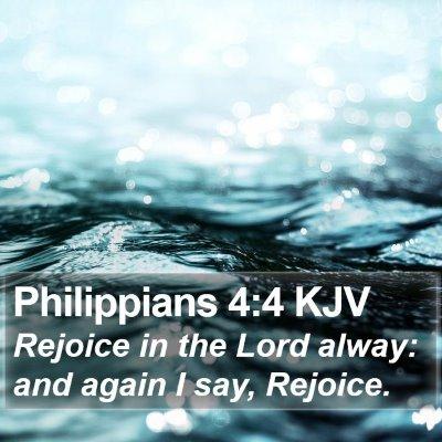 Philippians 4:4 KJV Bible Verse Image
