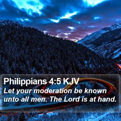 Philippians 4:5 KJV Bible Verse Image