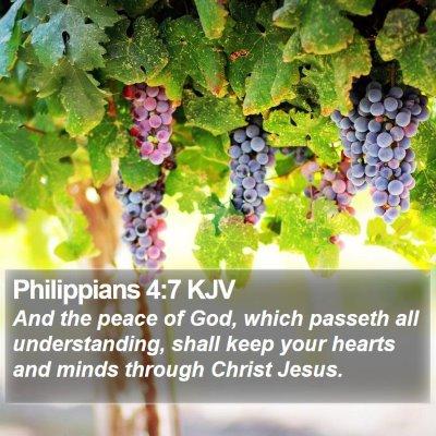 Philippians 4:7 KJV Bible Verse Image