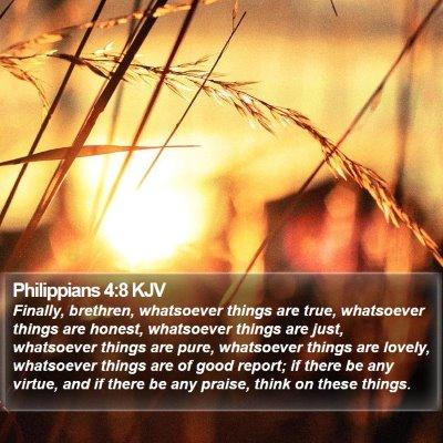 Philippians 4:8 KJV Bible Verse Image