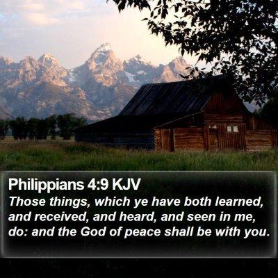 Philippians 4:9 KJV Bible Verse Image