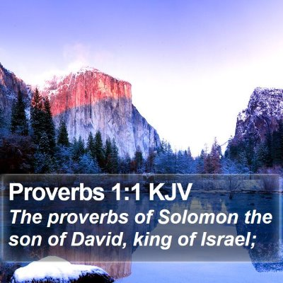 Proverbs 1:1 KJV Bible Verse Image