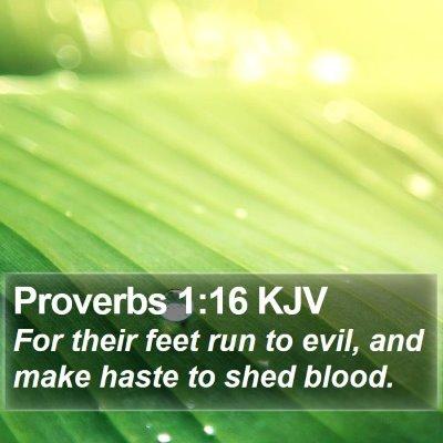 Proverbs 1:16 KJV Bible Verse Image