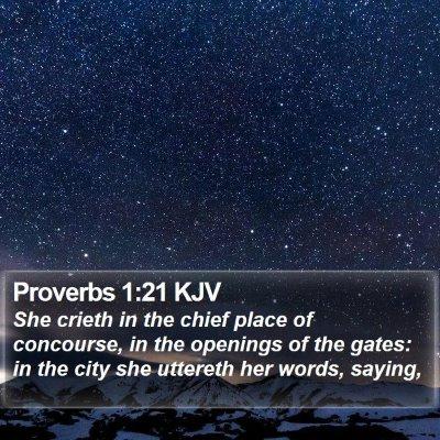 Proverbs 1:21 KJV Bible Verse Image