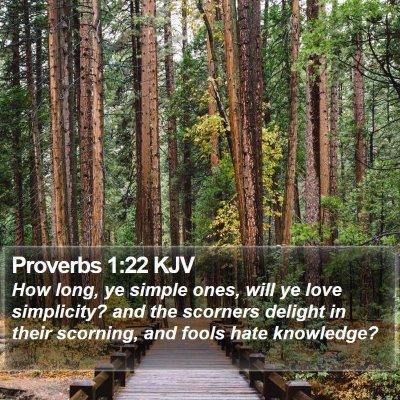 Proverbs 1:22 KJV Bible Verse Image