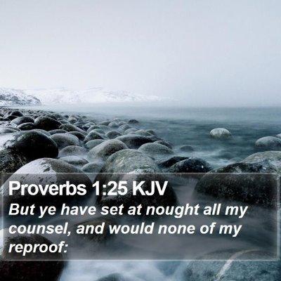 Proverbs 1:25 KJV Bible Verse Image