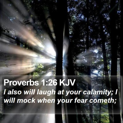 Proverbs 1:26 KJV Bible Verse Image