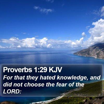 Proverbs 1:29 KJV Bible Verse Image