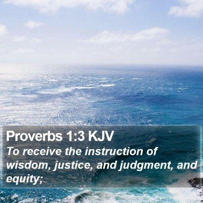Proverbs 1:3 KJV Bible Verse Image