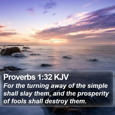 Proverbs 1:32 KJV Bible Verse Image