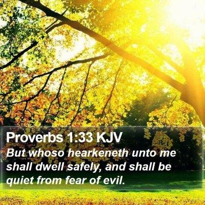 Proverbs 1:33 KJV Bible Verse Image