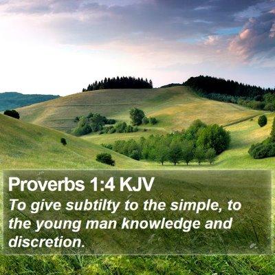 Proverbs 1:4 KJV Bible Verse Image