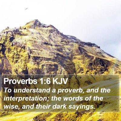 Proverbs 1:6 KJV Bible Verse Image