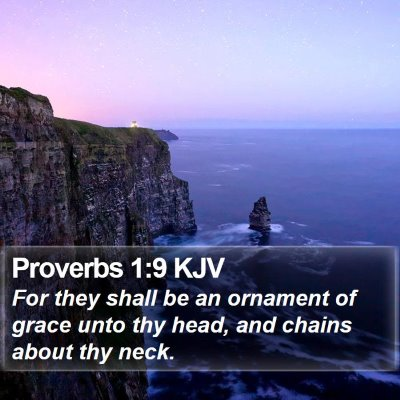 Proverbs 1:9 KJV Bible Verse Image