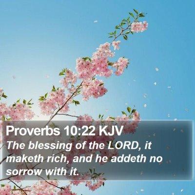 Proverbs 10:22 KJV Bible Verse Image