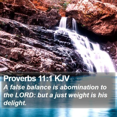 Proverbs 11:1 KJV Bible Verse Image