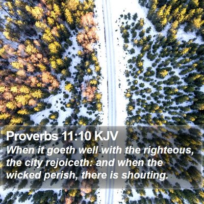 Proverbs 11:10 KJV Bible Verse Image