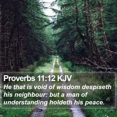 Proverbs 11:12 KJV Bible Verse Image