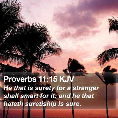 Proverbs 11:15 KJV Bible Verse Image