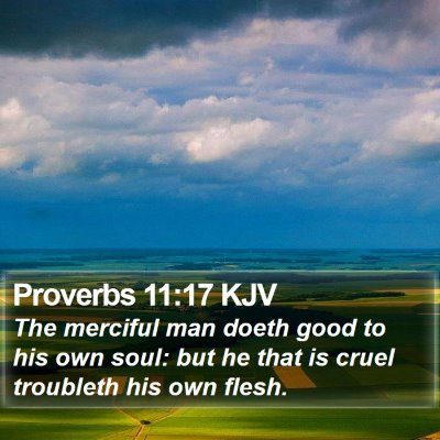 Proverbs 11:17 KJV Bible Verse Image