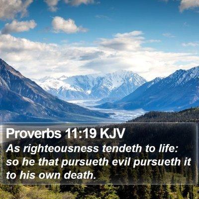 Proverbs 11:19 KJV Bible Verse Image