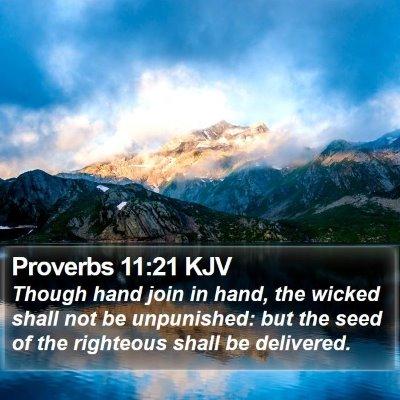 Proverbs 11:21 KJV Bible Verse Image