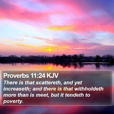 Proverbs 11:24 KJV Bible Verse Image