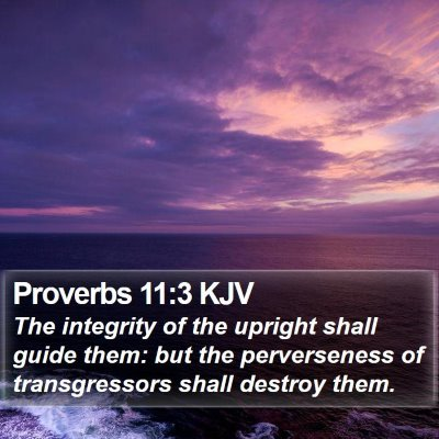 Proverbs 11:3 KJV Bible Verse Image