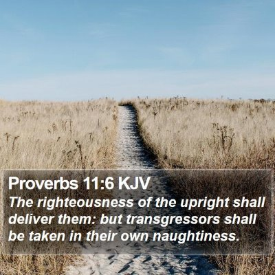 Proverbs 11:6 KJV Bible Verse Image