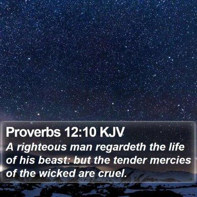 Proverbs 12:10 KJV Bible Verse Image
