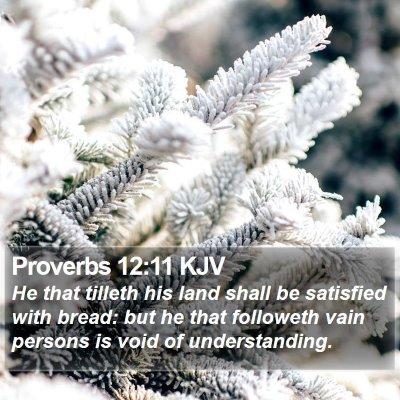 Proverbs 12:11 KJV Bible Verse Image