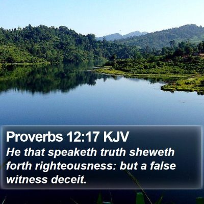 Proverbs 12:17 KJV Bible Verse Image