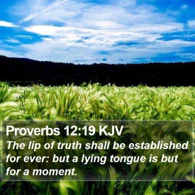 Proverbs 12:19 KJV Bible Verse Image
