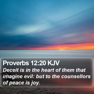 Proverbs 12:20 KJV Bible Verse Image