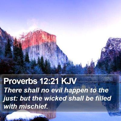 Proverbs 12:21 KJV Bible Verse Image