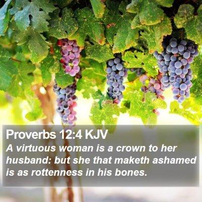 Proverbs 12:4 KJV Bible Verse Image