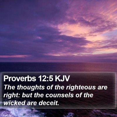 Proverbs 12:5 KJV Bible Verse Image