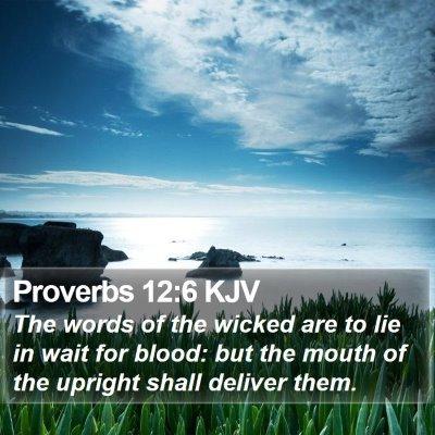 Proverbs 12:6 KJV Bible Verse Image