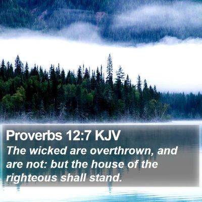 Proverbs 12:7 KJV Bible Verse Image