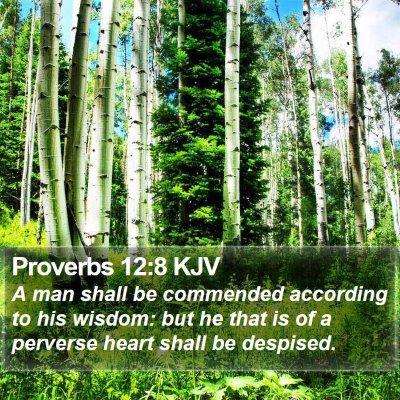 Proverbs 12:8 KJV Bible Verse Image